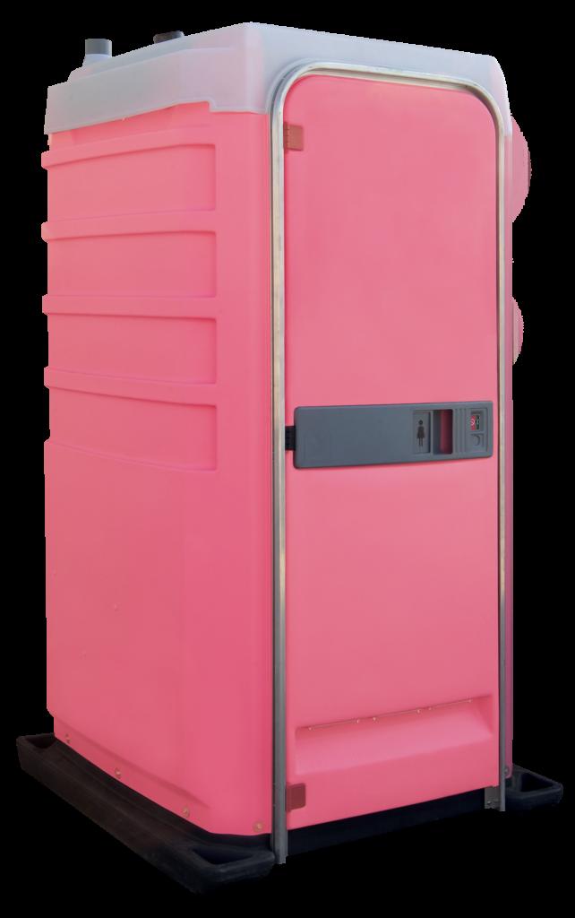 Růžové WC k pronájmu